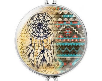 Great connector silver cabochon dreamcatcher dream catcher Indian c9