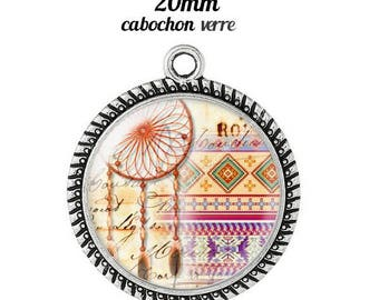 Pendant cabochon glass 20 mm dreamcatcher dream catcher Indian c2
