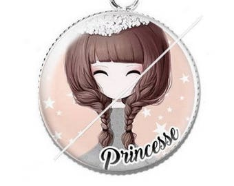 Cabochon 25mm Princess pendant