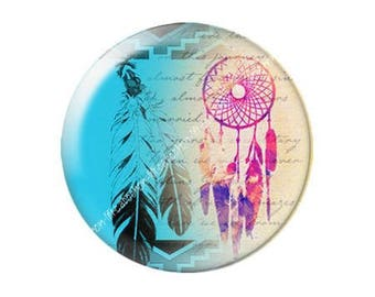 resin cabochon mounted on a stick 25 mm dreamcatcher dream catcher Indian c13