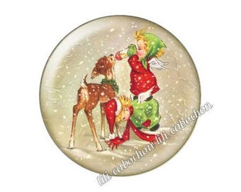 resin cabochon is 25 mm Christmas stick bba25