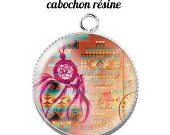 Pendant cabochon resin 20 mm dreamcatcher dream catcher Indian c4