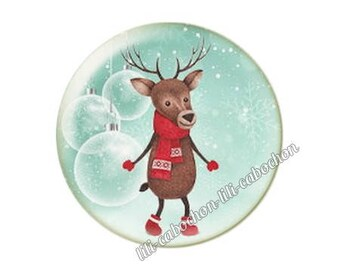 resin cabochon is 25 mm Christmas stick bba56