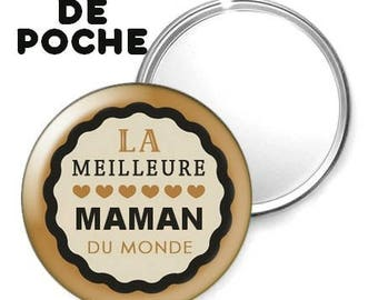 -Badge - 56mm Pocket mirror - I love you MOM 13