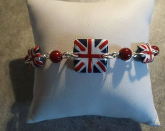 British flag pattern Fimo bracelet