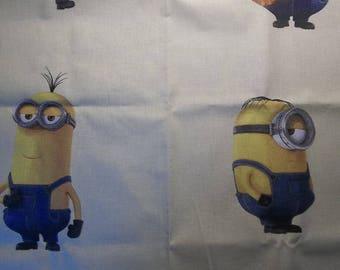 """coupon tissu coton """"minion"""""""