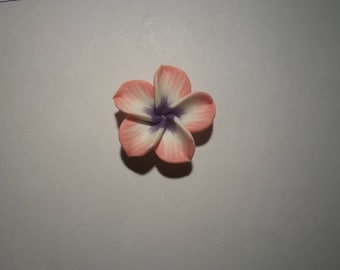 large pink and white 30 mm polymer clay flowers