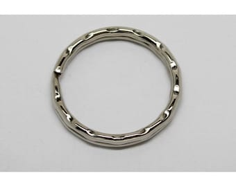 silver plated 25mm key ring