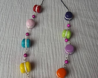 Necklace assorted macarons