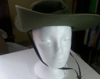 Heavy Cannvas Bonney  Hat Green size Small. Made in the USA