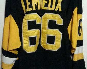 CCM Mario Lemieux NHL Pittsburgh Penguins Vintage Collection Hockey Jersey Sz 54