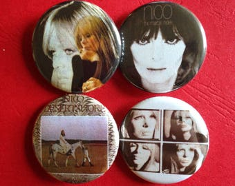 NICO set of 4 buttons 1.25""