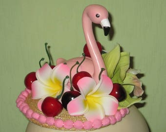 1950s Inspired Flamingo Tropicana Fascinator