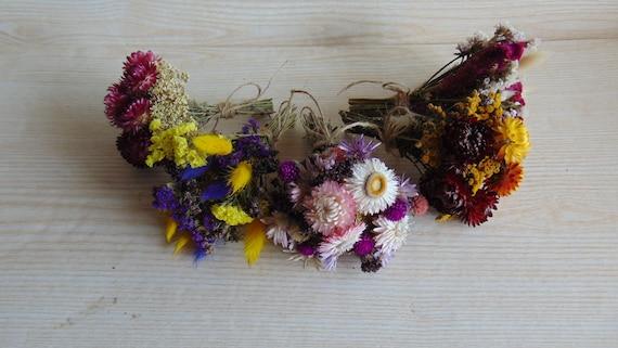 Set Of 10 Dried Flower Bouquets Natural Decor Vase Filler Etsy