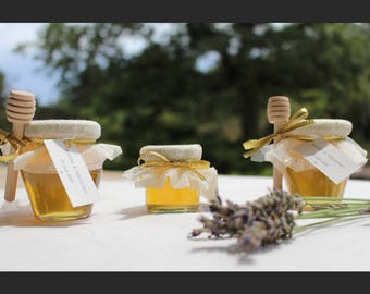 Mini jars of honey 125 g (without honey spoon) for wedding gift, order: 25