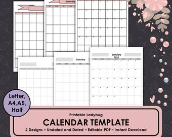 Woodland Creatures Bullet Journal Monthly Calendar Layout Etsy