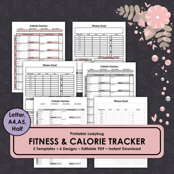 fitness trackerhealth tracker weight loss plannerfitness etsy