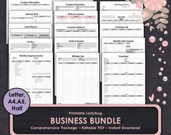 Business Bundle,Printable Business,Business Journal,Business Planner,Small Business,Business Templates,Budget Tracker,Finance,Inventory,Sale