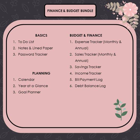 Finance Budget BundleFinance PlannerBudget PlannerFinance
