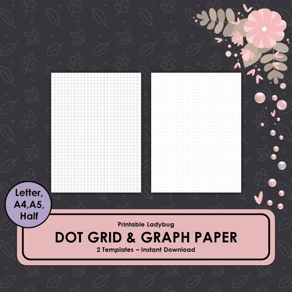 Punktraster Millimeterpapier Bullet Journal Dot Grid | Etsy