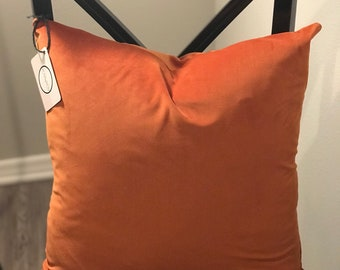Rust Orange Velvet Pillow Cover