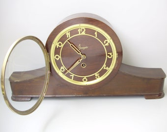 Antique Hungarian Mantel Clock ,table clock,wind-up 1950's