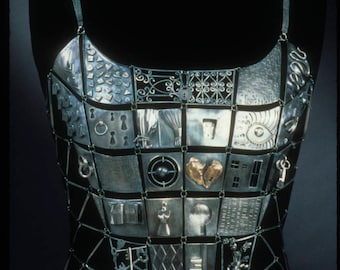 Charmed. Hand fabricated sterling silver bodice - wearable art