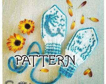 PATTERN: Mermaid Baby Mittens ~ knitting strikke stricken votter strikkeoppskrift