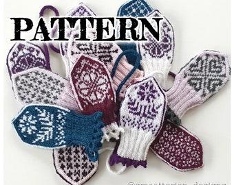 PATTERN: Baby Sister Mittens ~knitting knit strikke oppskrift örgü tricoter stricken