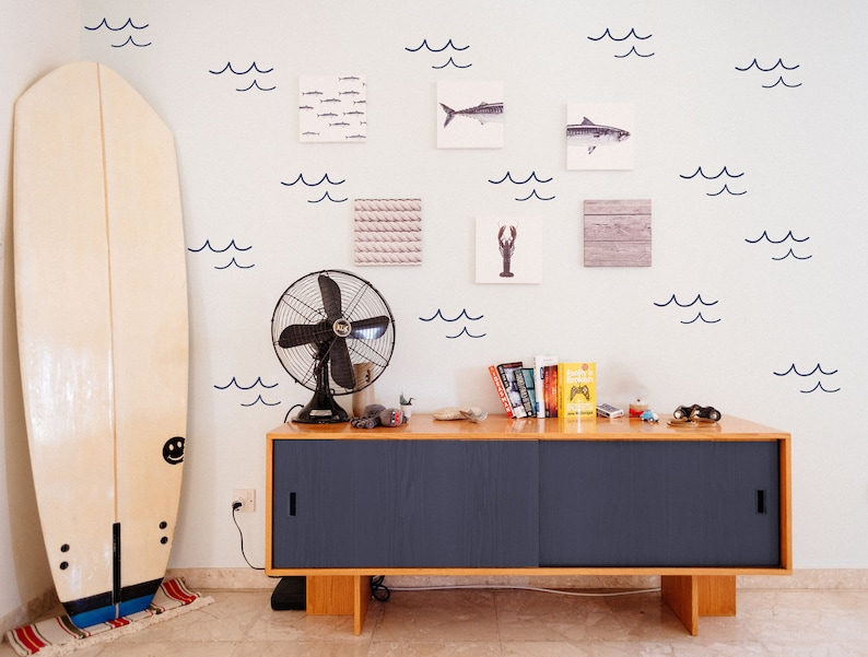 Ride the Wave Wall Decal // Ocean Wall Decals / Beach Nursery image 0