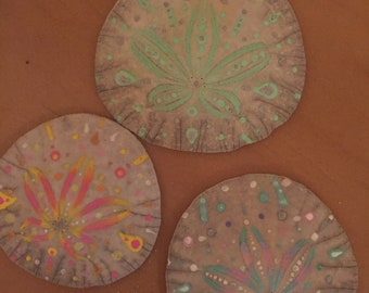 Hand painted sand dollars