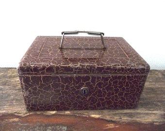 Metal box, box made of iron, Vintage, box decoration