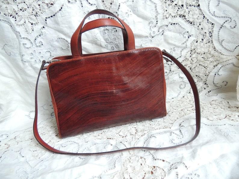 5a1f35522d Nice Women s Etienne Aigner Brown Leather Handbag Purse