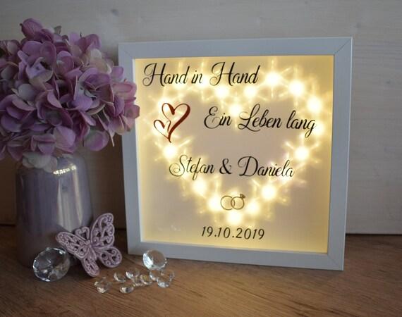 Beleuchteter Bilderrahmen Geschenk Hochzeit