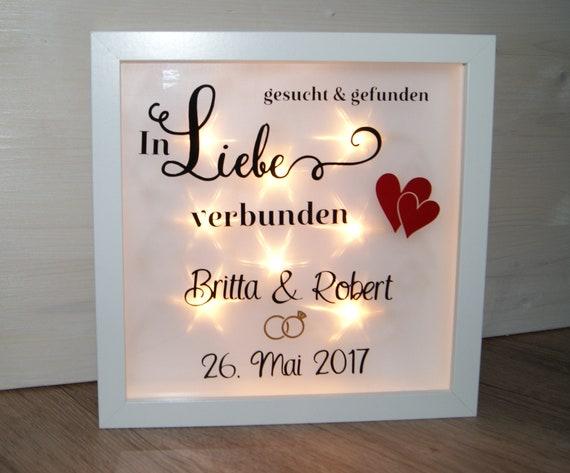 Beleuchteter Bilderrahmen Geschenk Hochzeit Etsy