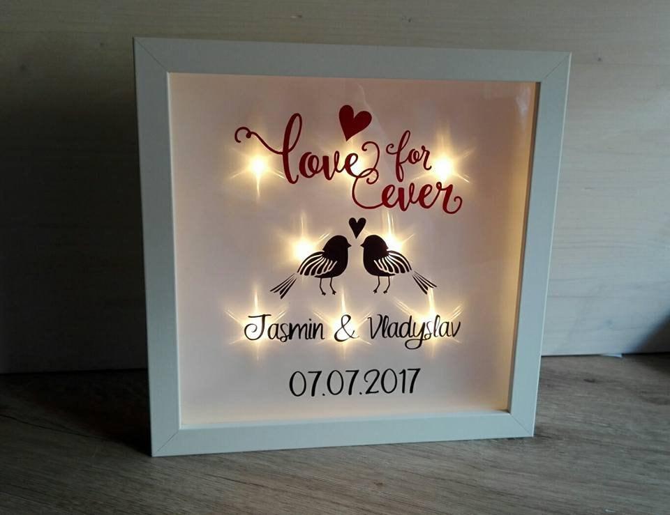 Leuchtrahmen Beleuchteter Bilderrahmen Hochzeit   Etsy