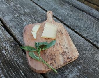 Elm Cutting Board, Cheese Board, Garlic Board, Cutting Board With Handle, Housewarming Gift, Birthday Gift, Serving Platter, Serving Plate