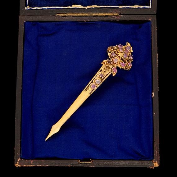 Antique Victorian Sterling Silver Gold Kondakoora