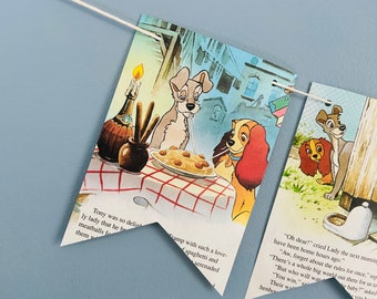 Garland The Jolly Barnyard Story Book Pages Bunting Pennants Nursery Decor Baby Shower Birthday Party Flags