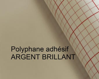 Silver Polyphane 30x120cm Lampshade adhesive for double-sided grey silver shiny, RIM Lampshade pendant light