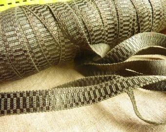 10 m khaki stripe passsementerie * 1.4 cm * France old stock