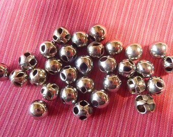 30 buttons stainless steel ball * 0.7 cm * vintage