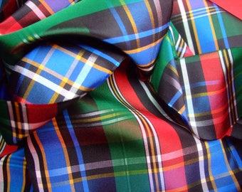 Fabric nylon Plaid Rainbow * 150 cm x 50 cm * old new stock