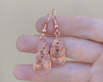 Beautiful Swirly Copper Earrings