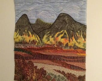 Landscape quilted wallhanging