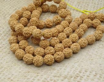 15 pearls seed prayer rudrashka red Tibetan dark 9-10mm