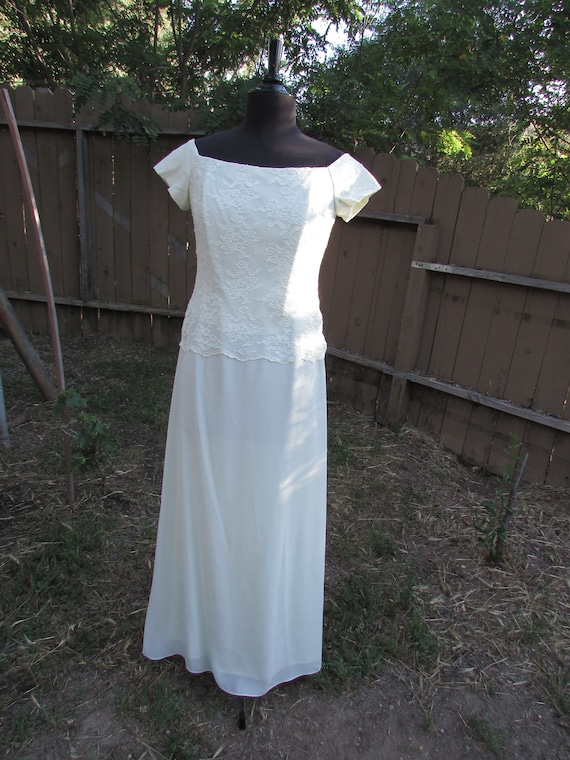Lace and Voile Formal Gown