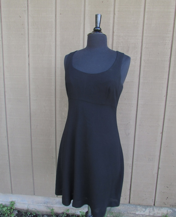 Empire Black Crepe Dress