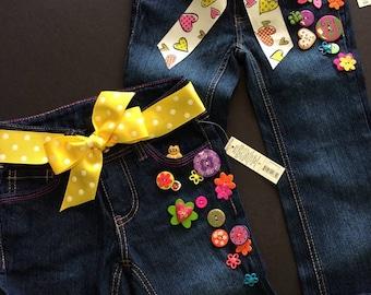 Size 5 Girls Jeans Faded Glory Custom