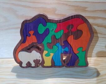 Kids puzzle: Tristan elephant in tree